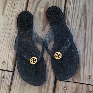 Tory Burch Blue Jelly Thong Sandals 8